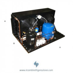Unità condensatrice ad aria compressore Maneurop EMTZ144-02 con quattro ventole