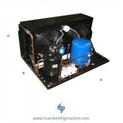 Unità condensatrice ad aria compressore Maneurop EMTZ160-02 con quattro ventole